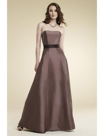 A-Line/Princess Strapless Floor-Length Satin Bridesmaid dress for brides new Style(BMD0014)
