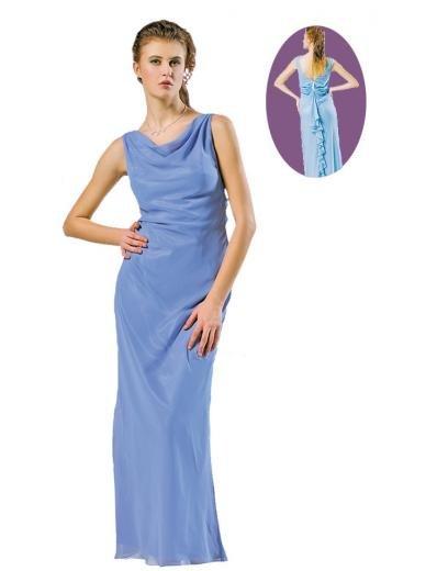 Column/Sheath jewer Floor Length Chiffon Bridesmaid dress for brides new Style(BMD0097)