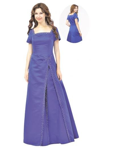 A-Line/Princess Square Floor Length Satin Bridesmaid dress for brides new Style(BMD0098)
