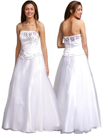 A-Line/Princess Strapless Floor Length Satin Bridesmaid dress for brides new Style(BMD0099)