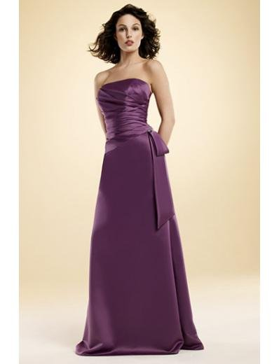 A-Line/Princess Strapless Floor-Length Satin Bridesmaid dress for brides new Style(BMD0021)