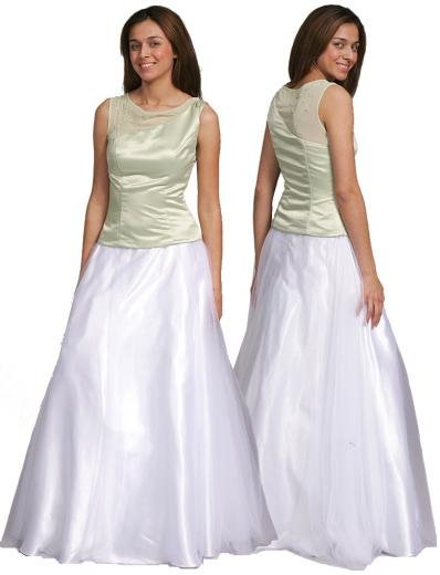 A-Line/Princess Scoop Floor Length Satin Bridesmaid dress for brides new Style(BMD0101)