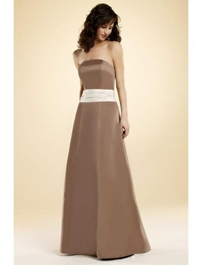 A-Line/Princess Strapless Floor-Length Satin Bridesmaid dress for brides new Style(BMD0022)