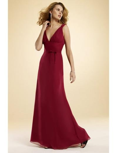 A-Line/Princess V-Neck Floor-Length Satin Bridesmaid dress for brides new Style(BMD0023)