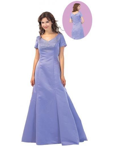 A-Line/Princess V-neck Floor Length Satin Bridesmaid dress for brides new Style(BMD0096)