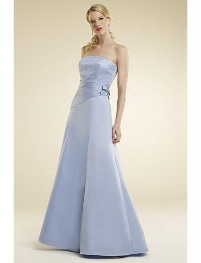 A-Line/Princess Strapless Floor-Length Satin Bridesmaid dress for brides new Style(BMD0015)