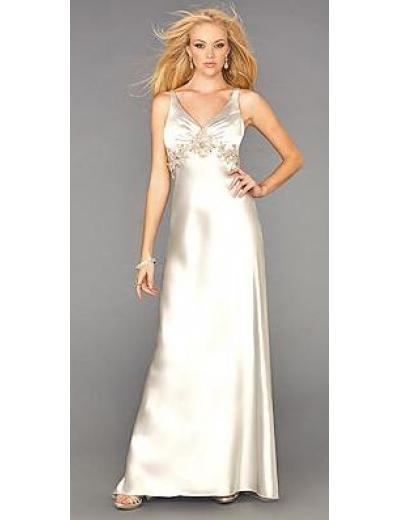 Column/Sheath V-neck Tea-length Satin Bridesmaid Dresses for brides new style(BMD0141)