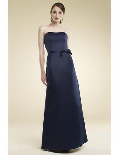 A-Line/Princess Strapless Floor-Length Satin Bridesmaid dress for brides new Style(BMD0016)