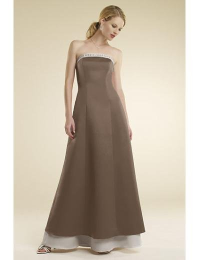 A-Line/Princess Strapless Floor-Length Satin Bridesmaid dress for brides new Style(BMD0017)