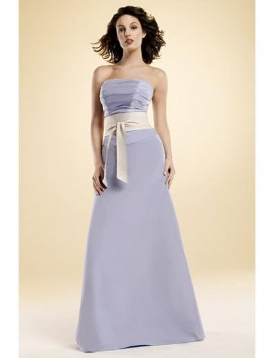 A-Line/Princess Strapless Floor-Length Satin Bridesmaid dress for brides new Style(BMD0018)