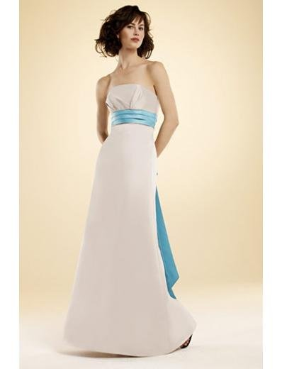 A-Line/Princess Strapless Floor-Length Satin Bridesmaid dress for brides new Style(BMD0019)