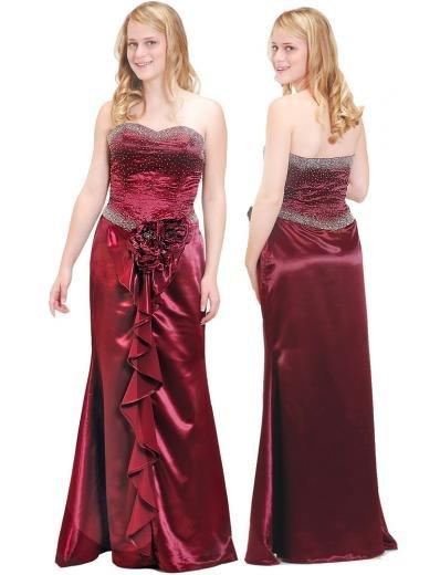 Column/Sheath Strapless Floor Length Train Satin Bridesmaid dress for brides new Style(BMD0128)