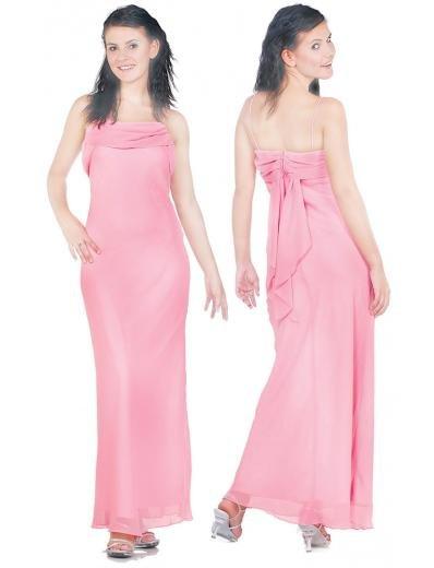 Column/Sheath spaghetti straps Tea-length Chiffon Bridesmaid dress for brides new Style(BMD0094)