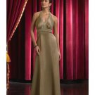 A-Line/Princess Halter Top Floor-Length Satin Bridesmaid dress for brides new Style(BD0052)
