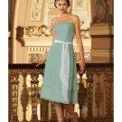 A-Line/Princess Strapless Tea-Length Satin Bridesmaid dress for brides new Style(BMD0301)
