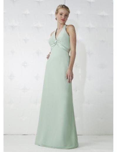Empire Halter top Floor-length Satin Bridesmaid Dresses for brides new Style(BD0169)