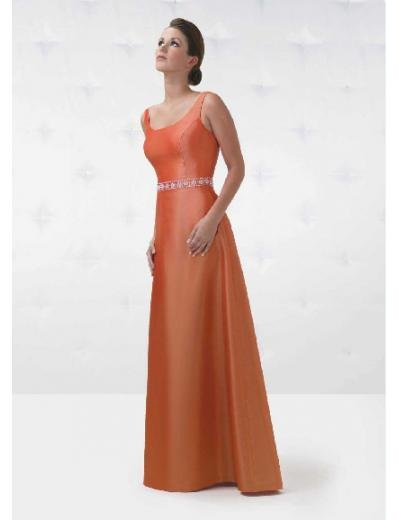 A-Line/Princess Scoop Floor Length Satin Bridesmaid Dresses for brides new style(BD0139)