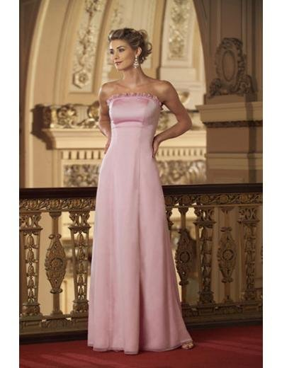 A-Line/Princess Strapless Floor-Length Chiffon Bridesmaid dress for brides new Style(BMD0303)