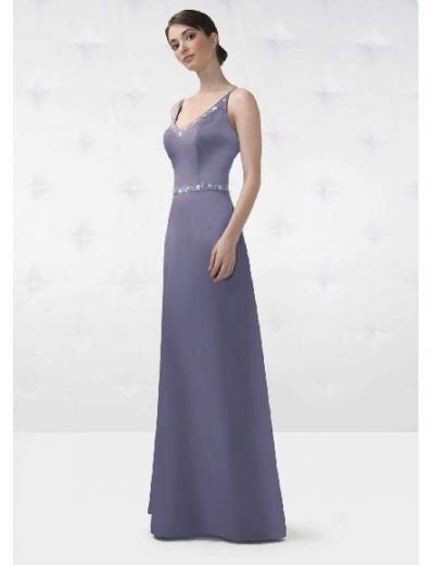 A-Line/Princess V-neck Floor Length Satin Bridesmaid Dresses for brides new style(BD0140)