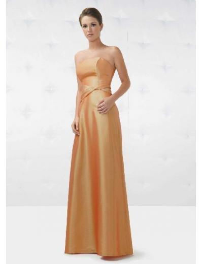 A-Line/Princess Strapless Floor Length Satin Bridesmaid Dresses for brides new style(BD0142)