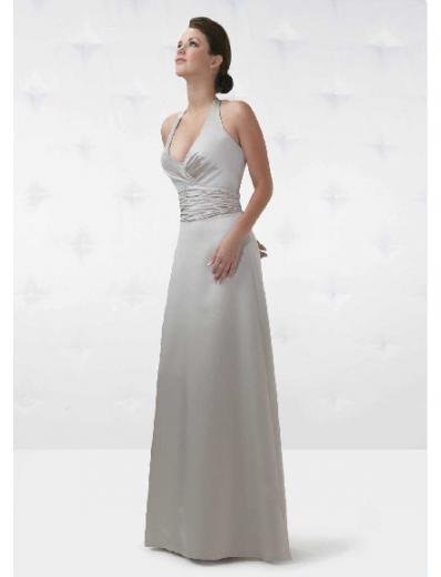 A-Line/Princess Halter Top Floor Length Satin Bridesmaid Dresses for brides new style(BD0143)