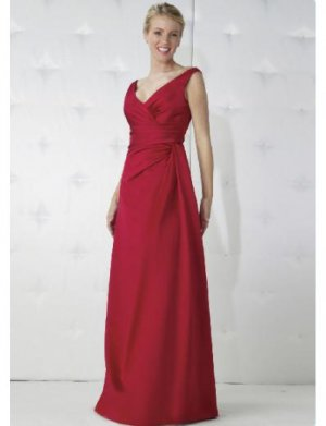 Empire V-neck Floor-length Satin Bridesmaid Dresses for brides new Style(BD0168)