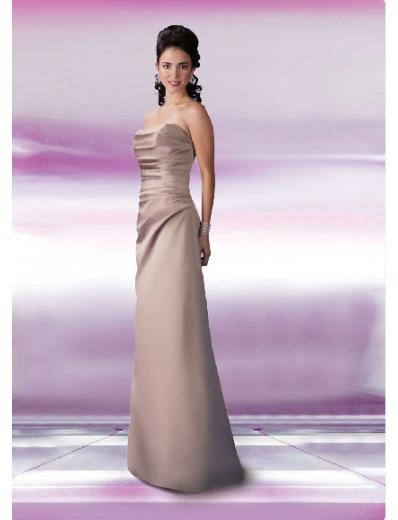 Empire Strapless Floor-length Satin Bridesmaid Dresses for brides new Style(BD0134)