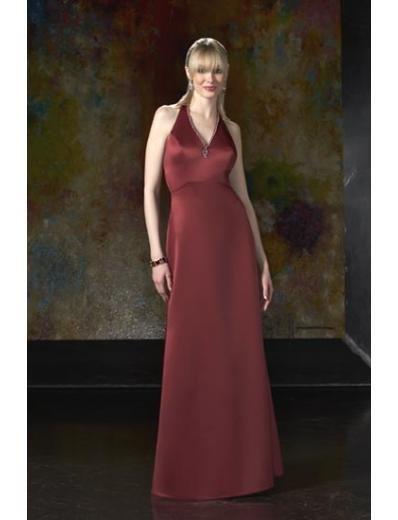 A-Line/Princess V-neck Floor-Length Satin Bridesmaid dress for brides new Style(BD0050)