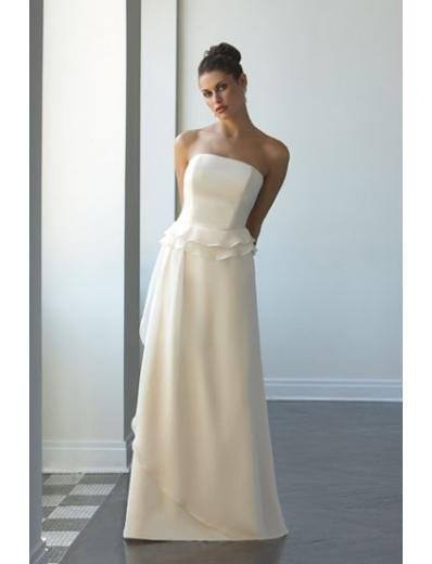 A-Line/Princess Strapless Floor-Length Satin Bridesmaid dress for brides new Style(BD0047)