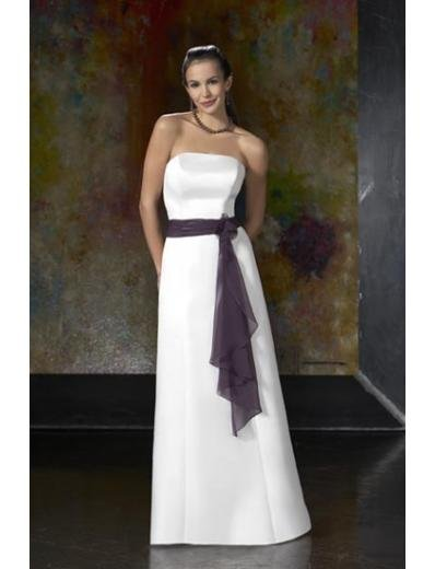 A-Line/Princess Strapless Floor-Length Satin Bridesmaid dress for brides new Style(BD0045)