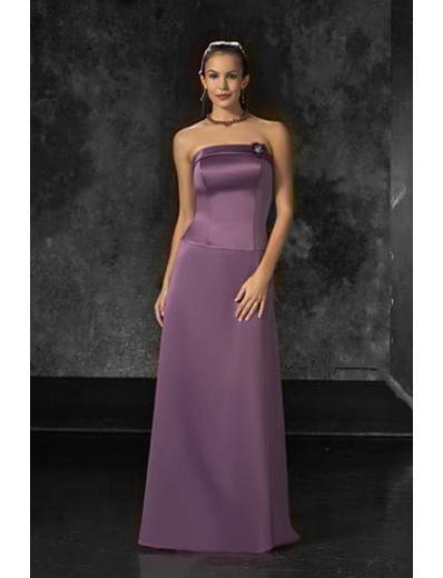 A-Line/Princess Strapless Floor-Length Satin Bridesmaid dress for brides new Style(BD0043)