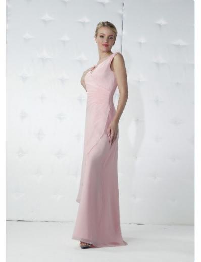 Column/Sheath V-neck Floor-length Chiffon Bridesmaid Dresses for brides new Style(BD0167)