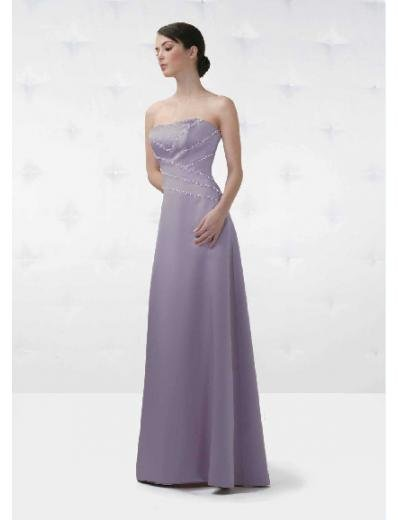 A-Line/Princess Strapless Floor Length Chiffon Bridesmaid Dresses for brides new style(BD0137)