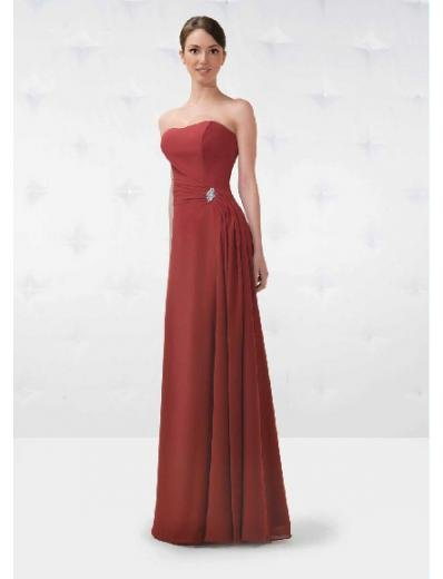 A-Line/Princess Strapless Floor Length Satin Bridesmaid Dresses for brides new Style(BD0152)