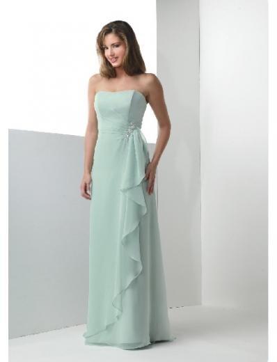 Column/Sheath Strapless Floor-length Chiffon Bridesmaid Dresses for brides new Style(BD0179)