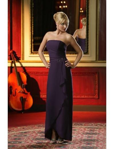 Column/Sheath Strapless Floor-length train Satin Bridesmaid Dresses for brides new style(BD0010)