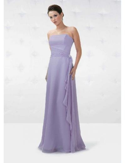 A-Line/Princess Strapless Floor Length Chiffon Bridesmaid Dresses for brides new Style(BD0153)