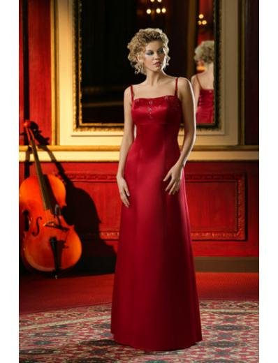 Column/Sheath Square Floor-length train Satin Bridesmaid Dresses for brides new style(BD0011)