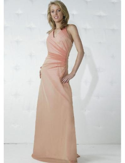 A-Line/Princess Halter Top Floor Length Satin Bridesmaid Dresses for brides new Style(BD0155)