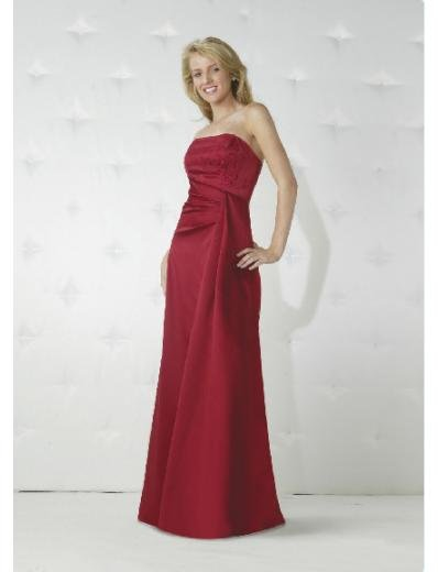 Column/Sheath Strapless Floor-length train Satin Bridesmaid Dresses for brides new style(BD0156)