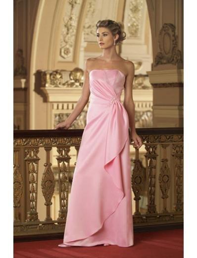 A-Line/Princess Strapless Floor-Length Satin Bridesmaid dress for brides new Style(BD0003)