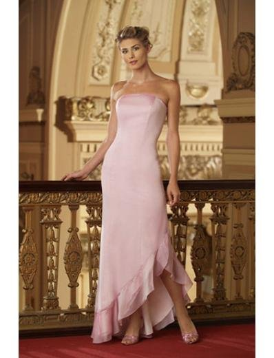 A-Line/Princess Strapless Floor-Length Chiffon Bridesmaid dress for brides new Style(BD0004)