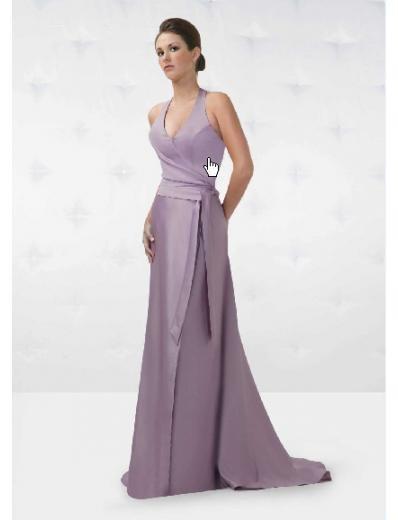 A-Line/Princess Halter Top Floor Length Chiffon Bridesmaid Dresses for brides new Style(BD0146)