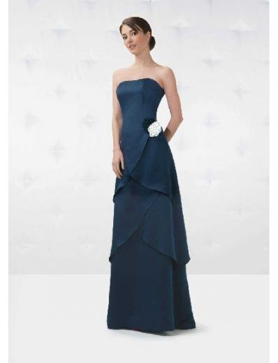A-Line/Princess Strapless Floor Length Satin Bridesmaid Dresses for brides new Style(BD0148)