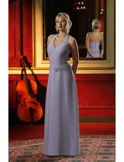 Column/Sheath Halter Top Floor-length train Satin Bridesmaid Dresses for brides new style(BD0008)