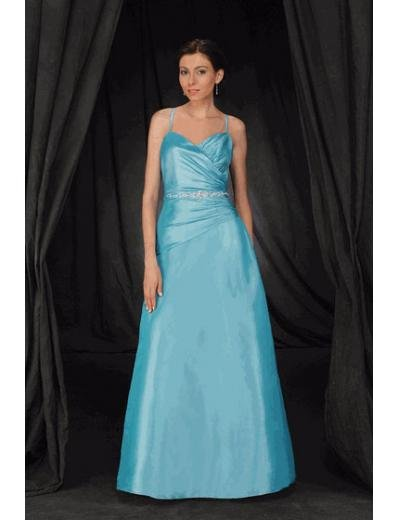 A-Line/Princess spaghetti straps Floor-Length Satin Bridesmaid dress for brides new Style(BMD0079)