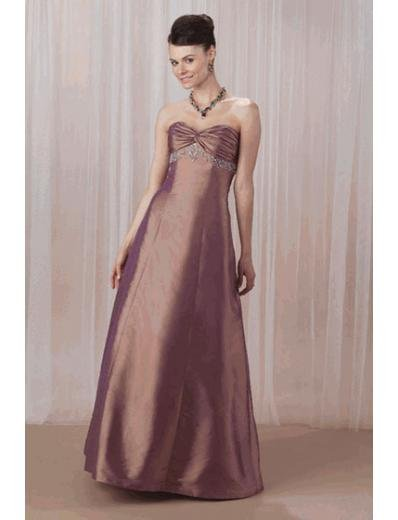 A-Line/Princess Strapless Floor-Length Satin Bridesmaid dress for brides new Style(BMD0078)