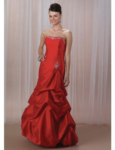 A-Line/Princess Strapless Floor-Length Satin Bridesmaid dress for brides new Style(BMD0077)