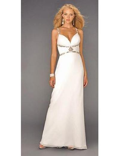 Empire Spaghetti straps V-neck Floor-length train Chiffon Bridesmaid Dresses for brides(BMD0142)