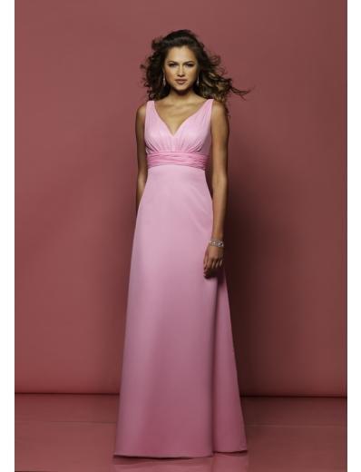 Column/Sheath V-neck Floor-length train Satin Bridesmaid Dresses for brides new style(BMD0158)
